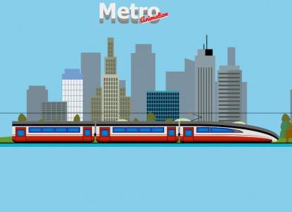 网站动画素材设计与制作HTML标签和CSS动画属性绘制城市高铁行驶动画图像样式效果