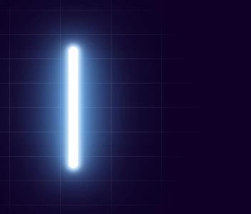 CSS光属性样式和JS特效绘制荧光棒图像随鼠标移动而动动画效果