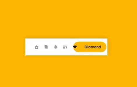 JS网页特效代码和CSS3绘制带icon图标的网站导航背景滑动动画效果