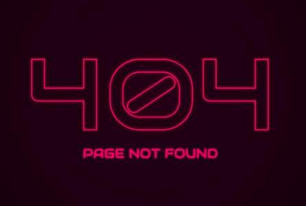 网站404静态页面设计代码CSS3与JS特效实现404边框高亮展示动画效果