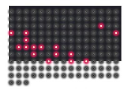 JavaScript网页特效代码与CSS动画属性实现LED荧屏粒子走动动画效果