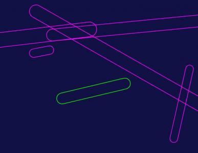 canvas网页实例代码绘制简单图形图像随鼠标移动而旋转动画效果