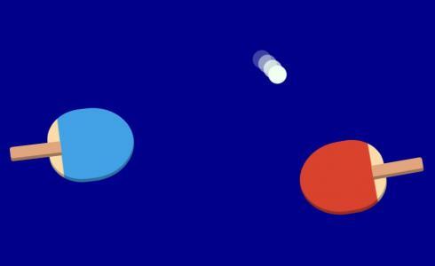 素材网站特效代码JS和CSS3实现乒乓球拍打场景动画效果