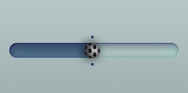 jQuery特效素材网站代码与CSS绘制3D立体足球滑块按钮滑动动画效果