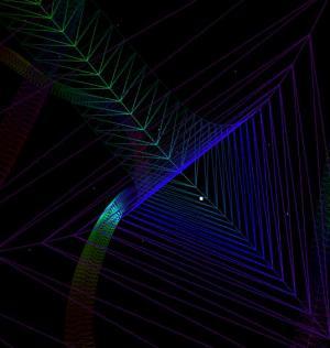 canvas特效素材网站代码绘制超级炫酷线性渐变黑洞图形图像动画效果