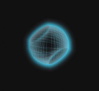 纯CSS3网页3D立体图像制作代码绘制线性空心圆图形图像旋转动画效果