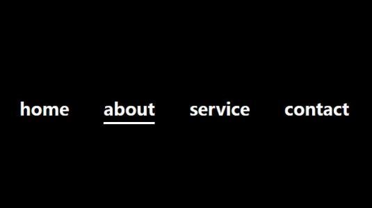 纯CSS3网页导航设计代码制作简单鼠标滑过下换线滑动导航样式效果