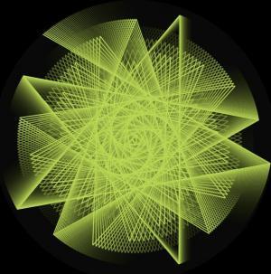 CSS3旋转属性样式表与canvas特效绘制超级绚丽的线性图案旋转动画效果
