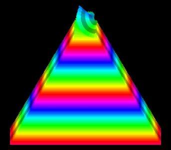 CSS3网页渐变背景色彩属性与JavaScript绘制3D立体图形旋转动画效果