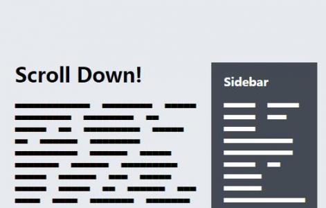 HTML网页布局代码与CSS样式实现模块随鼠标滑动悬浮固定效果
