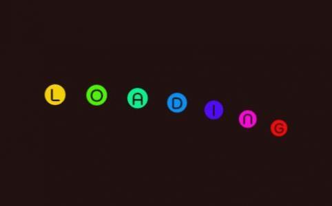 JS特效网站代码与CSS动画属性绘制色彩粒子loading文字漂浮动画效果