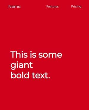 网站模板静态页面设计与制作HTML与CSS设计大气全屏红色风格网站静态页面