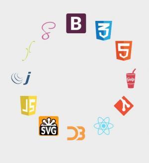 JS与CSS圆形动画设计制作软件图标旋转展示动画效果HTML网页素材设计代码