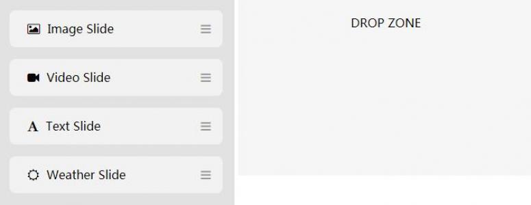 JavaScript代码与HTML排版布局鼠标拖拽列表实列表动态布局功能效果