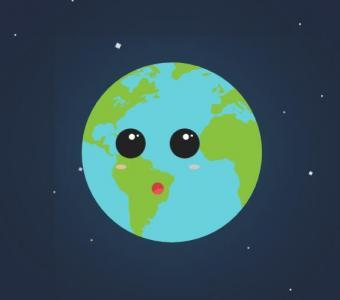 jQuery特效网站代码和CSS动画样式表绘制可爱卡通地球头像样式效果