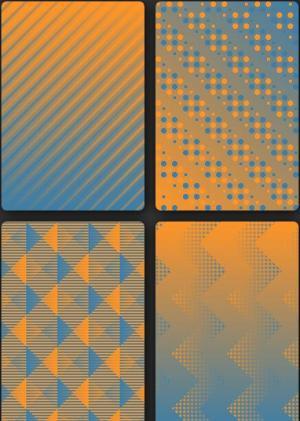 JavaScript素材网站特效代码和HTML护照不同背景纹理图案的卡片样式效果