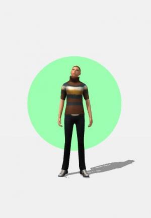 CSS3网页动画制作代码与JavaScript特效绘制卡通人物随鼠标移动旋转动画效果