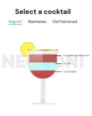 JS特效和CSS网页布局代码绘制卡通酒杯图像样式鼠标点击按钮酒杯状态切换代码