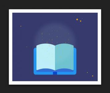 HTML网页素材设计代码CSS绘制带动态背景的书本翻开图像样式效果