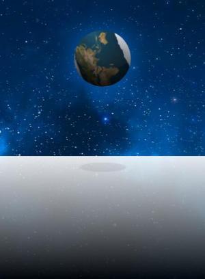 纯CSS3网页动画设计代码绘制动态星空背景下行星弹跳动画效果