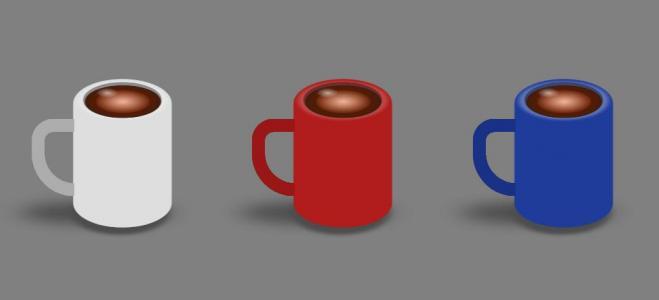 网页特效代码JS和CSS阴影属性绘制3D杯子图像鼠标点击杯子旋转动画效果