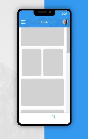 HTML网页布局代码和CSS样式表设计智能手机移动APP页面排版样式效果