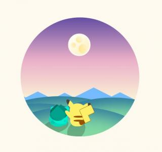 网站卡通UI设计代码HTML与CSS动画属性绘制圆形卡通动画图像样式效果