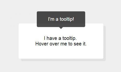 jQuery特效网页代码与CSS绘制阴影文本鼠标滑过提示信息滑动展示效果
