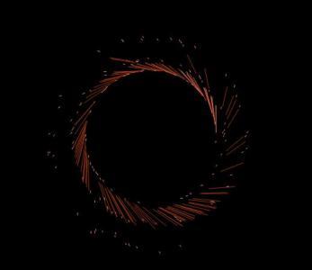 HTML标签特效代码和canvas绘制炫酷粒子旋转图像动画效果