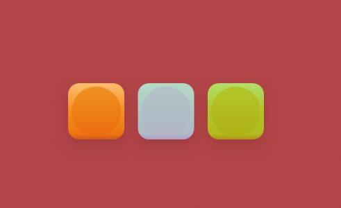 icon图标UI设计代码CSS3样式表绘制圆角3D立体感的桌面图标样式效果