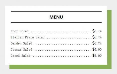 HTML标签网页代码和CSS3排版布局设计制作简单卡通菜单目录样式效果