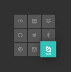 CSS3标签网页代码和jQuery实现九宫格图标排版布局鼠标滑过凸显放大效果