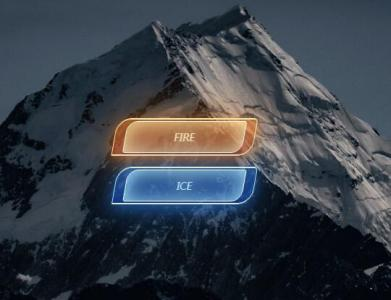 HTML5和CSS3透明属性样式表绘制创意个性带发光效果的网页按钮