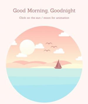 jQuery网页特效和CSS卡通动画属性绘制早晨日出场景动画效果
