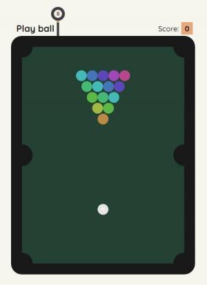 HTML游戏制作代码与JavaScript设计制作简单网页版桌球小游戏