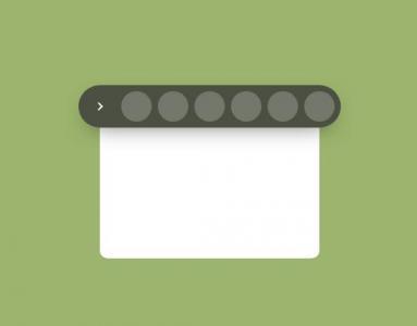 CSS3动画设计代码和JavaScript特效设计卡片菜单鼠标点击按钮滑动展示效果