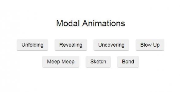 jQuery和CSS样式设计实现鼠标点击按钮弹出层不同方式展示动画效果