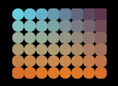 网页特效代码JS和CSS3渐变背景绘制一组圆形图像样式动画切换效果