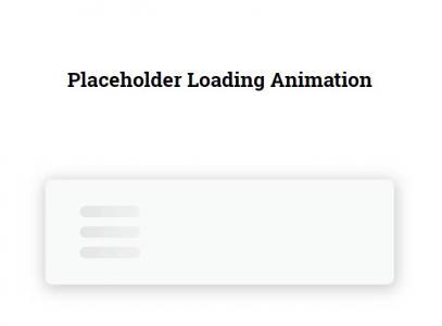 纯CSS3和HTML代码绘制创意大气网站数据加载loading进度条样式动画效果