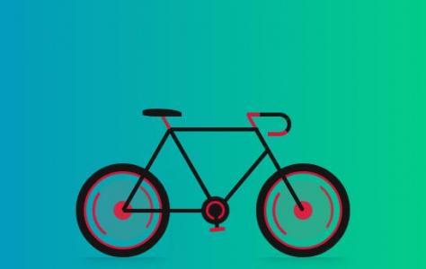 网页动画设计代码CSS3与HTML标签绘制卡通自行车行驶动画效果