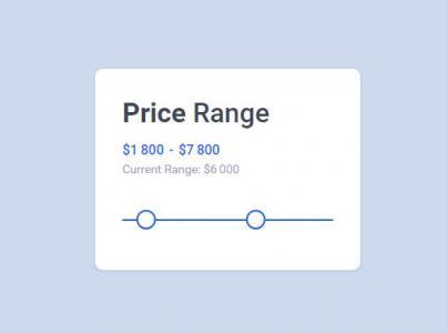 jQuery和HTML网页代码设计制作价格表鼠标拖拽滑块动态设置价格数据值