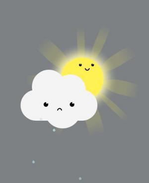 网站卡通头像绘制代码jQuery和CSS3绘制太阳和白云卡通头像样式效果