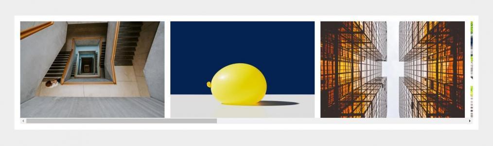 HTML代码和CSS3网页布局排版设计图片水平滚轮滑动动画效果