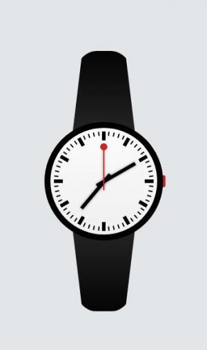纯CSS3网页图形样式设计代码绘制逼真手表图像网站手表UI样式设计与下载
