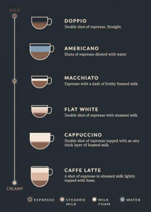 网页素材设计与制作HTML标签代码和CSS3设计创意咖啡名单列表