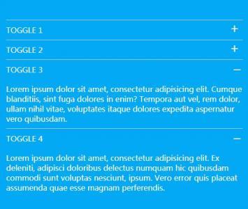 HTML网站设计与制作jQuery特效代码实现鼠标点击列表展开收缩效果