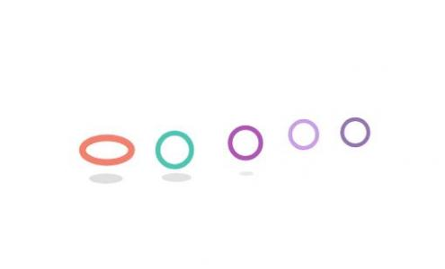 网页loading动态图标设计大全纯CSS3样式绘制彩色环形圆loading加载图标动画代码