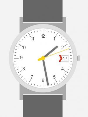 网站时钟UI样式设计效果CSS3网页样式表绘制大气手表图像样式代码