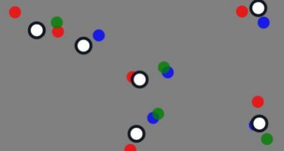 特效网站代码canvas画布和HTML5绘制色彩粒子圆漂浮动画背景效果