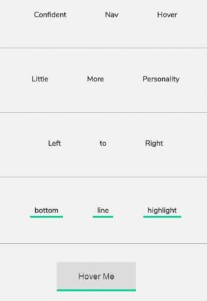 网站鼠标滑过特效设计HTML和CSS3绘制多款鼠标滑过内容边不同状态动画代码